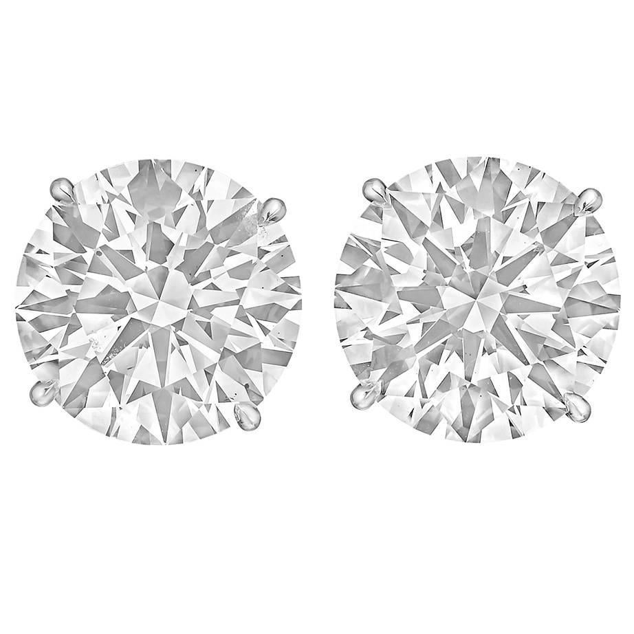 Betteridge Round Brilliant 40 Carats Diamond Stud Earrings For Sale At  1stdibs