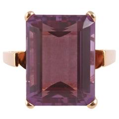8 Carat Amethyst Gold Ring