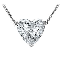 Rare 12.32 Carat Type lla Heart Shaped Diamond Pendant