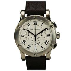 Ralph Lauren Stainless Steel Sporting Chronograph Wristwatch