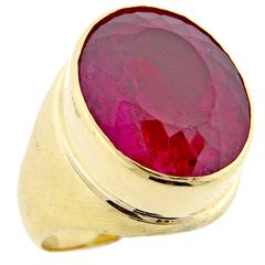 Burle-Marx Large Pink Tourmaline Ring