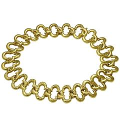 VAN CLEEF & ARPELS Alhambra Yellow Gold Diamond Necklace