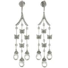 CARRERA Y CARRERA Butterflies Diamond White Gold Earrings
