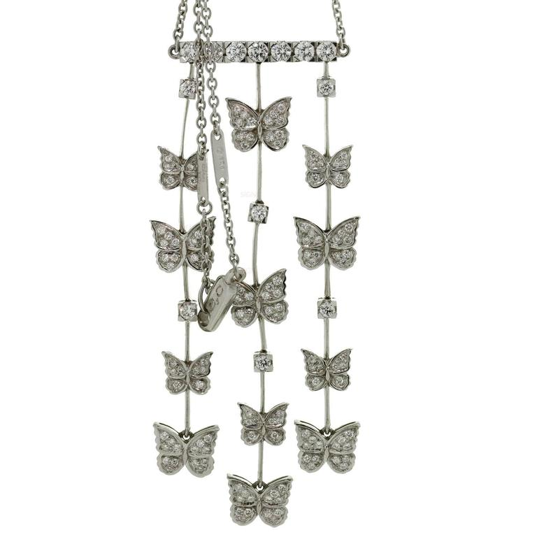 CARRERA Y CARRERA Butterflies Diamond White Gold Necklace 1