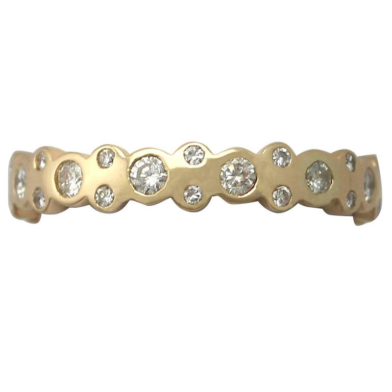 1990s 0.50 Carat Diamond and Yellow Gold Full Eternity Ring