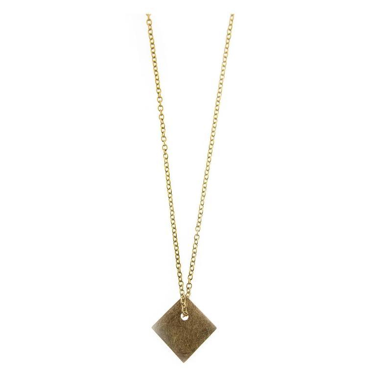 Jona Yellow Gold Pendant Necklace