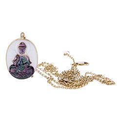Mother or Pearl Kwan Yin Buddha Pendant