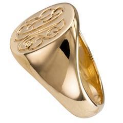 Tiffany 18 Karat Yellow Gold Signet Ring