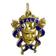 Yale Gold and Enamel Charm