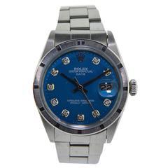 Rolex Stainless Steel Thunderbird Bezel Date Oyster Bracelet Wristwatch, 1972