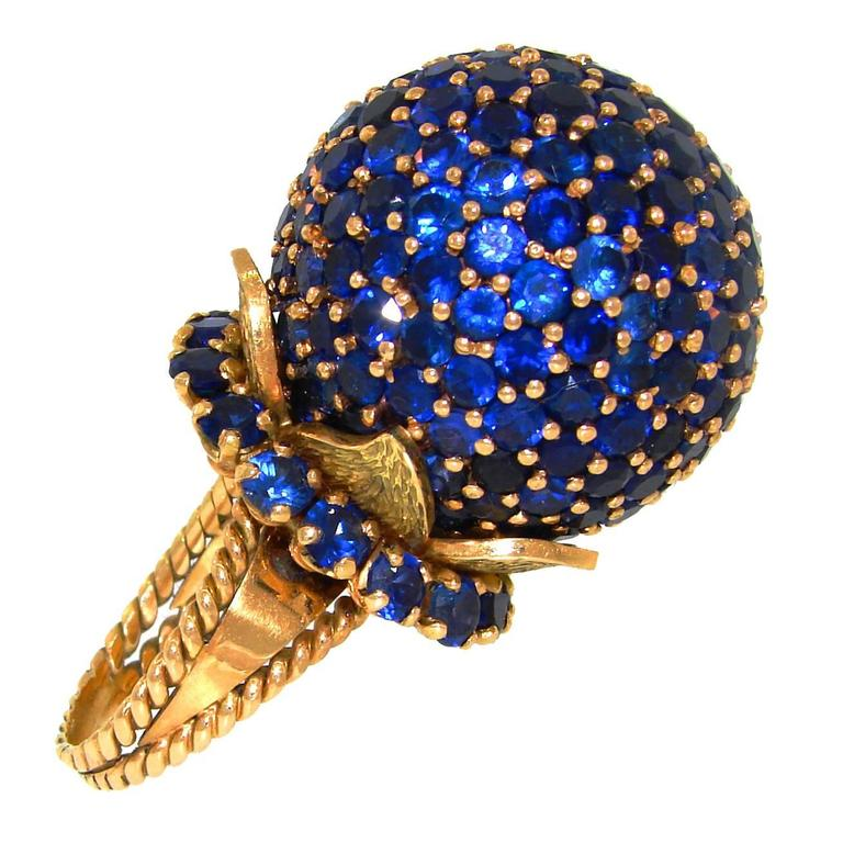 1970s Sapphire Gold Ring