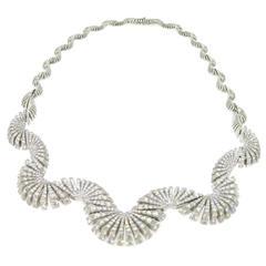 Ventaglio Diamond Necklace by Miseno