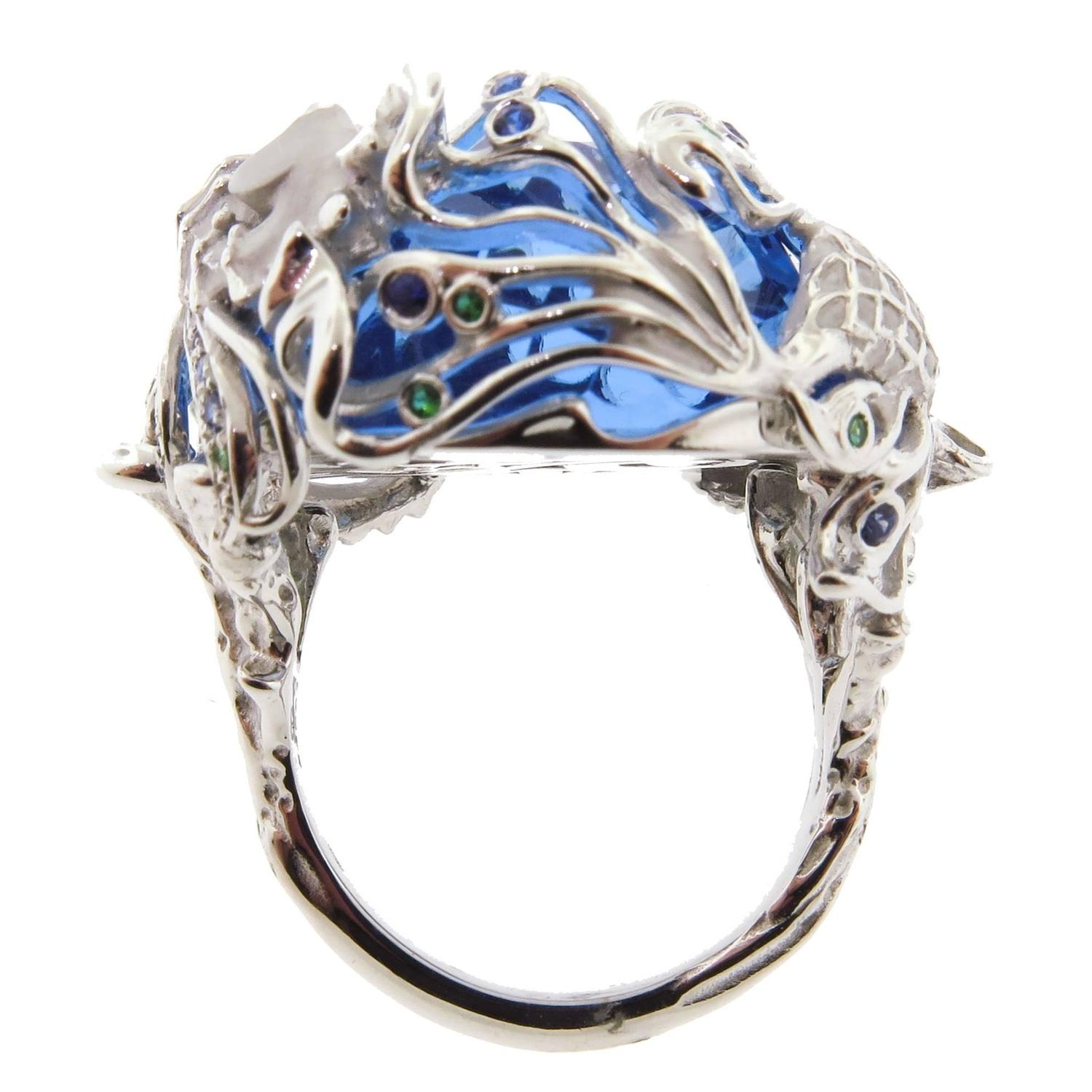 Marine Life Cocktail Ring By Carrera Y Carrera For Sale At