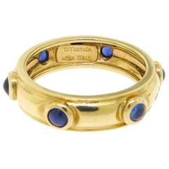 Tiffany & Co. Cabochon Sapphire Gold Band