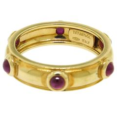 Tiffany & Co. Cabochon Ruby Gold Band
