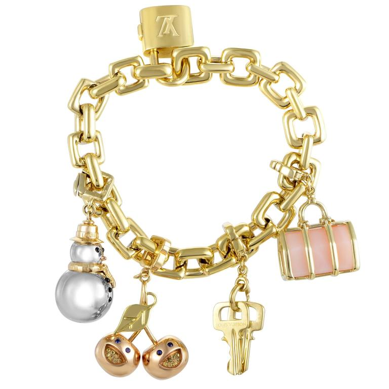 Louis Vuitton Yellow Gold Charm Bracelet For