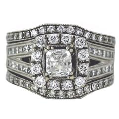Neil Lane 2.00 Carat Diamonds Gold Bridal Ring with Soldered Bands