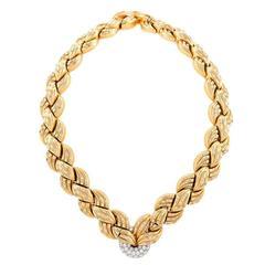 Van Cleef & Arpels 1940s Diamond Gold Necklace and Bracelets