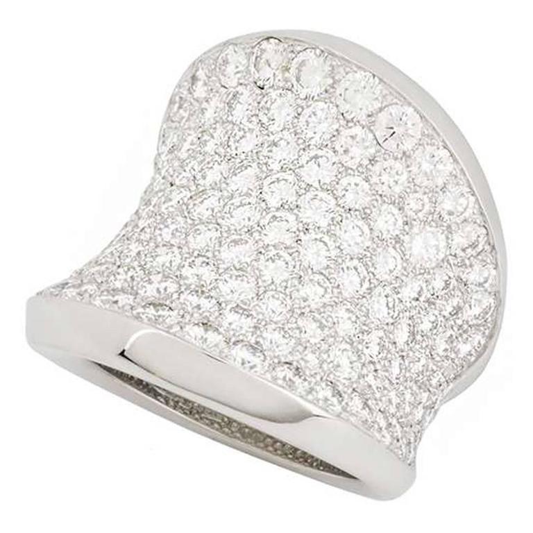 Cartier Calice Diamond Set Dress Ring