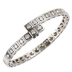 Cartier Tectonique Bracelet Diamond 3.15 Carat