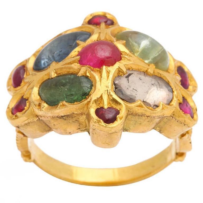 Multigem Gold Mogul Ring