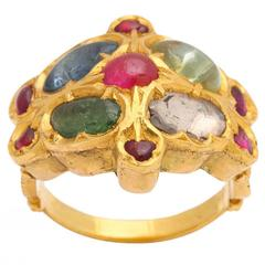 Multigem Gold Mogul Ring