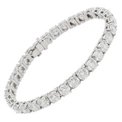 Tiffany & Co. Diamond Platinum Tennis Bracelet 16.78 carats