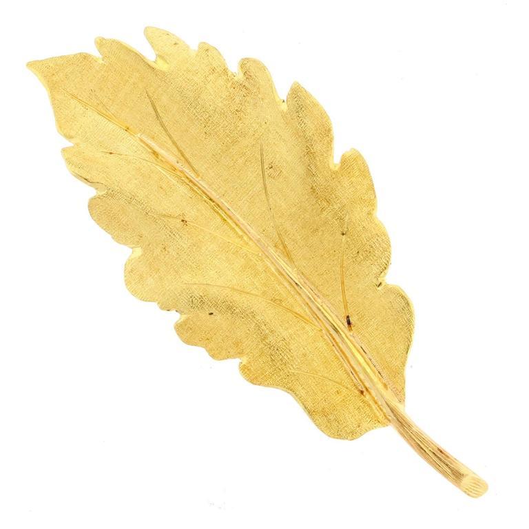 Buccellati Gold leaf Brooch