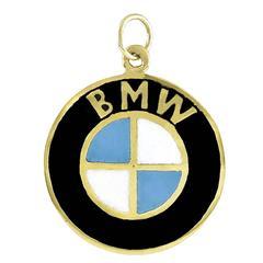 BMW Gold Enamel Charm