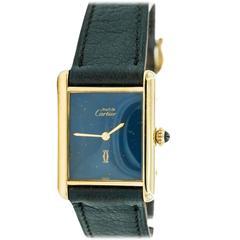 1960s Cartier Tank with Lapis Lazuli Dial
