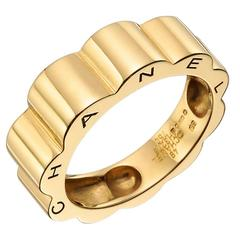 "Chanel ​Yellow Gold ""Profil de Camellia"" Band Ring"