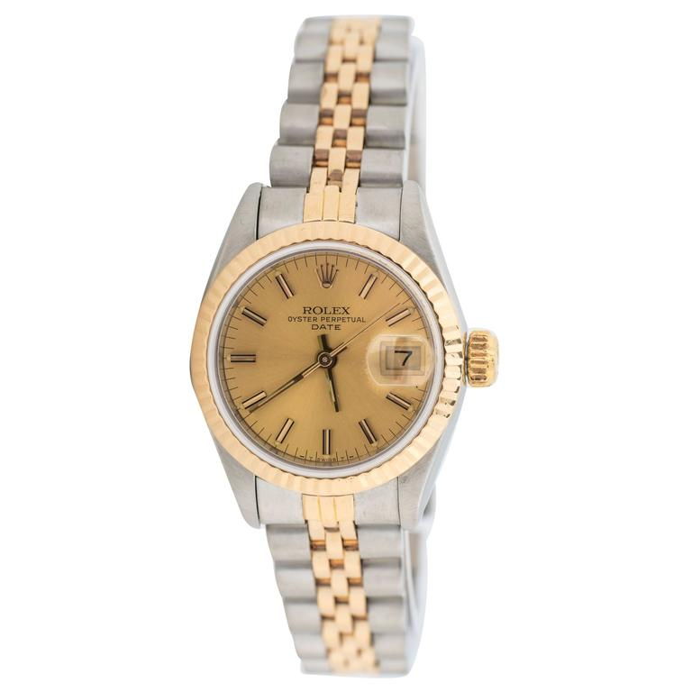 1980s Ladies Rolex Date Two Tone with Jubilee Bracelet 1