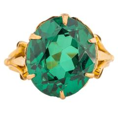 1890s Emerald and Yellow Gold Ring