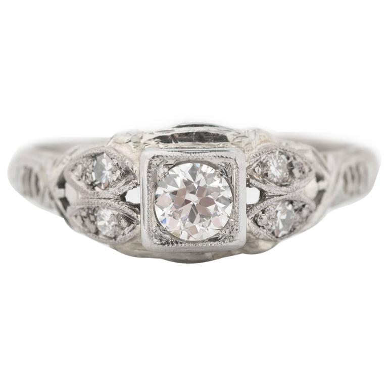 1920s Intricate Diamond Engagement Ring 1