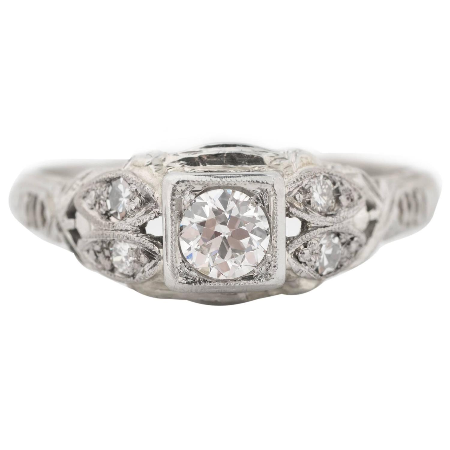 1920s intricate engagement ring for sale at 1stdibs