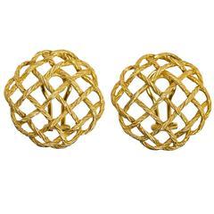 Buccellati Gold 'Crepe de Chine' Earclips