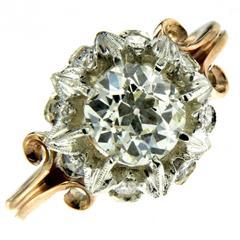 1890 Diamond Gold Engagement Ring