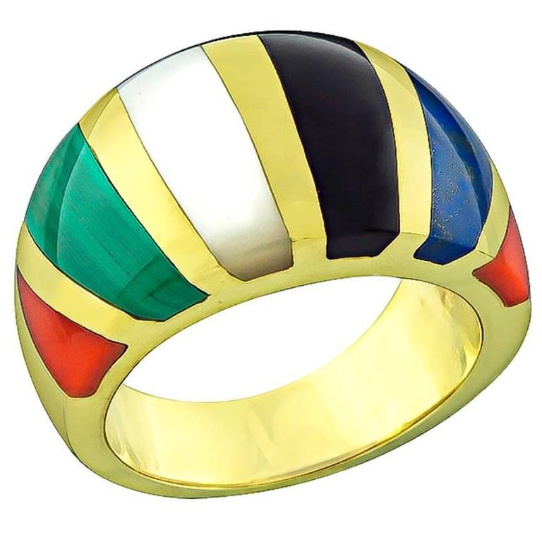 Asch Grossbardt Multi Color Gemstone Ring 1