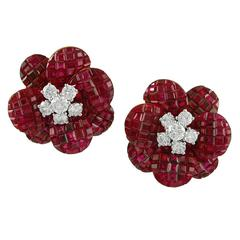 Van Cleef & Arpels Mystery-Set Ruby Earrings