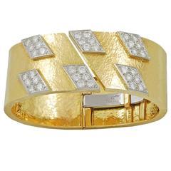 David Webb Gold and Diamond Bracelet