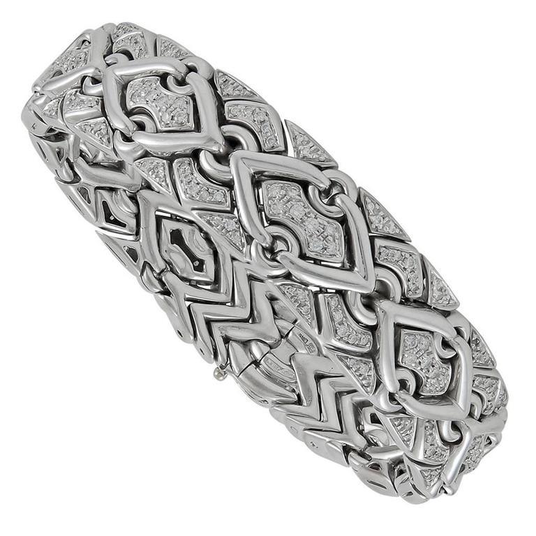 Bulgari Trika Diamond and Gold Bracelet