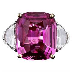 Bubblegum Pink Sapphire Ring 16.37 carats