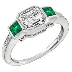 Stunning 1.54 Carat Asscher Cut Diamond Engagement Ring