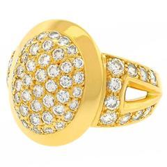 Cartier Diamond Pave Gold Ring