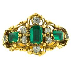 Georgian Emerald & Diamond Ring, Circa 1830