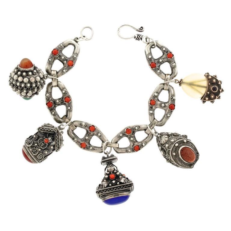 Italian Charm Bracelet Brands: Italian Sterling Charm Bracelet, Circa 1920s At 1stdibs