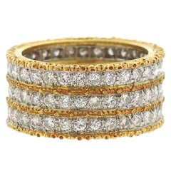 Buccellati Eternelle Two Color Gold Diamond Ring