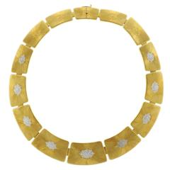 Buccellati Geminato Gold Panel Necklace