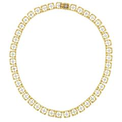 Buccellati Two Tone Gold Diamond Necklace