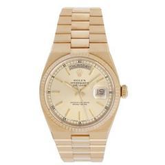 Rolex Oysterquartz President Day-Date Men's Gold Quartz Watch 19018